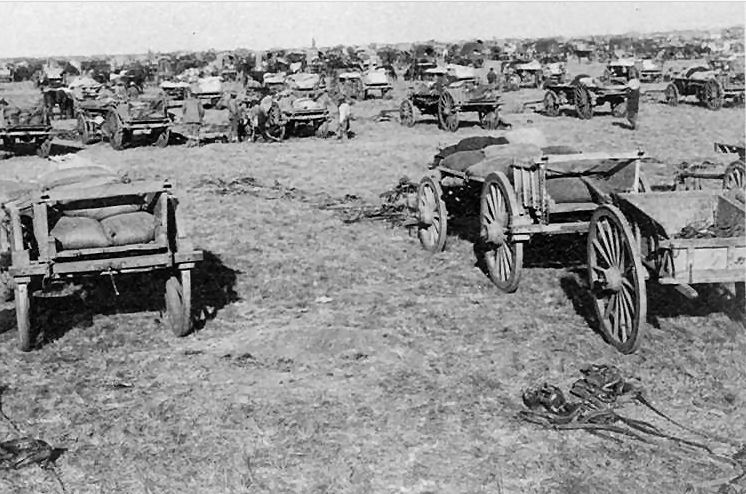 "Convoy of the 11th Division ""outspanned"" on the march to Kroonstad"