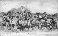 Party of Cape Police at an out Fort during Siege, Mafeking