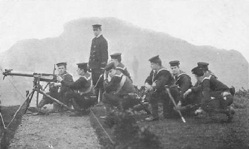 Royal Navy Maxim Gun Crew
