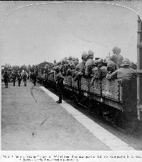 Wiltshire Regiment in transit