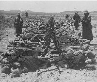 Troops sleep by their arms prior to the Colesberg attack 30th December