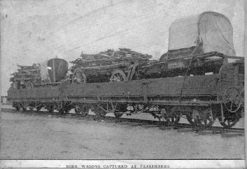 Boer Wagons captured at Paardeberg