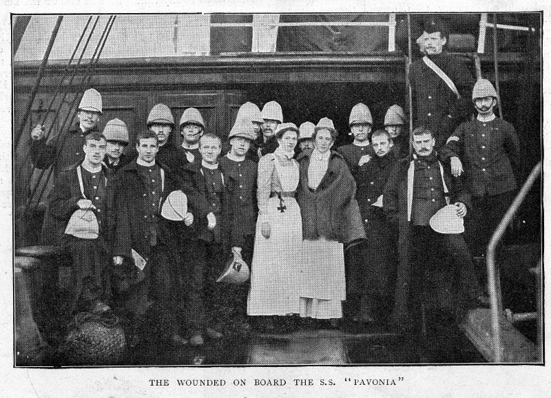 Wounded on board the SS Pavonia