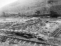 Sandbag Dam on the Klip River constructed by the Boers with the object of flooding out the British Army in Ladysmith