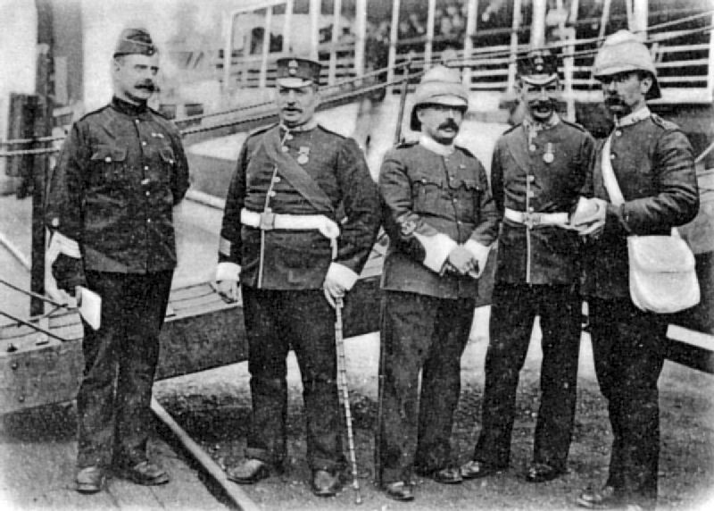 Warrant Officers of the Fighting Fifth, going to the Front